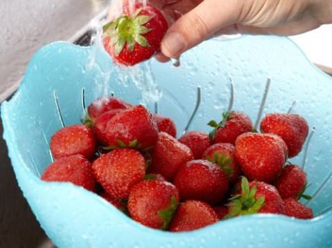 Aardbeienconfituur met rode vrienden