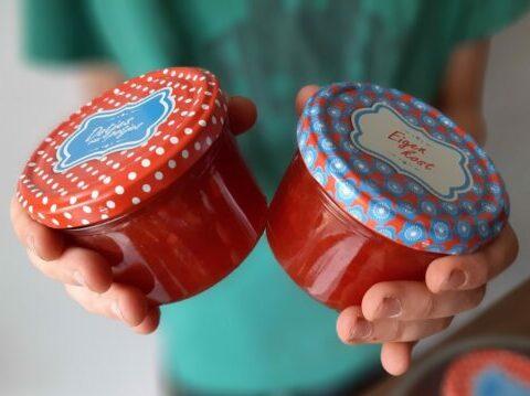 Aardbeienconfituur met pompelmoes