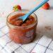 Aardbeien-rabarberconfituur met chiazaad