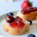 aardbeienconfituur met blauwe bessen